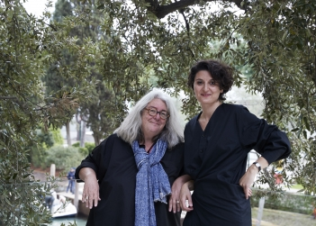 Angelica Mesiti and curator Juliana Engberg. Photo Zan Wimberley