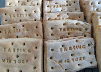 Hard tack biscuits are one of three biscuits being researched by UNSW Art & Design lecturer Dr Lindsay Kelley. Credit: Lindsay Kelley.