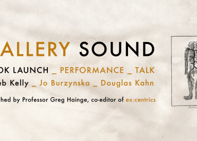 Talk, Performance, Book Launch: Gallery Sound