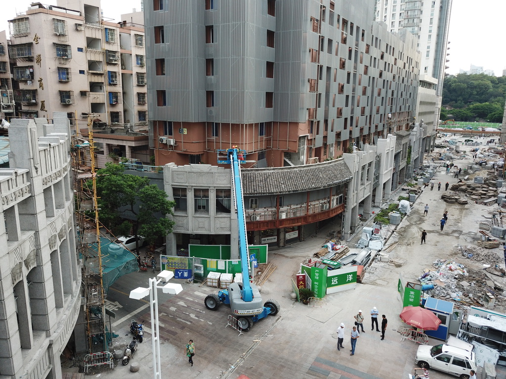 The commencement of the Zen Street urban renewal project in the district of Wenzhou in Zhejiang province.