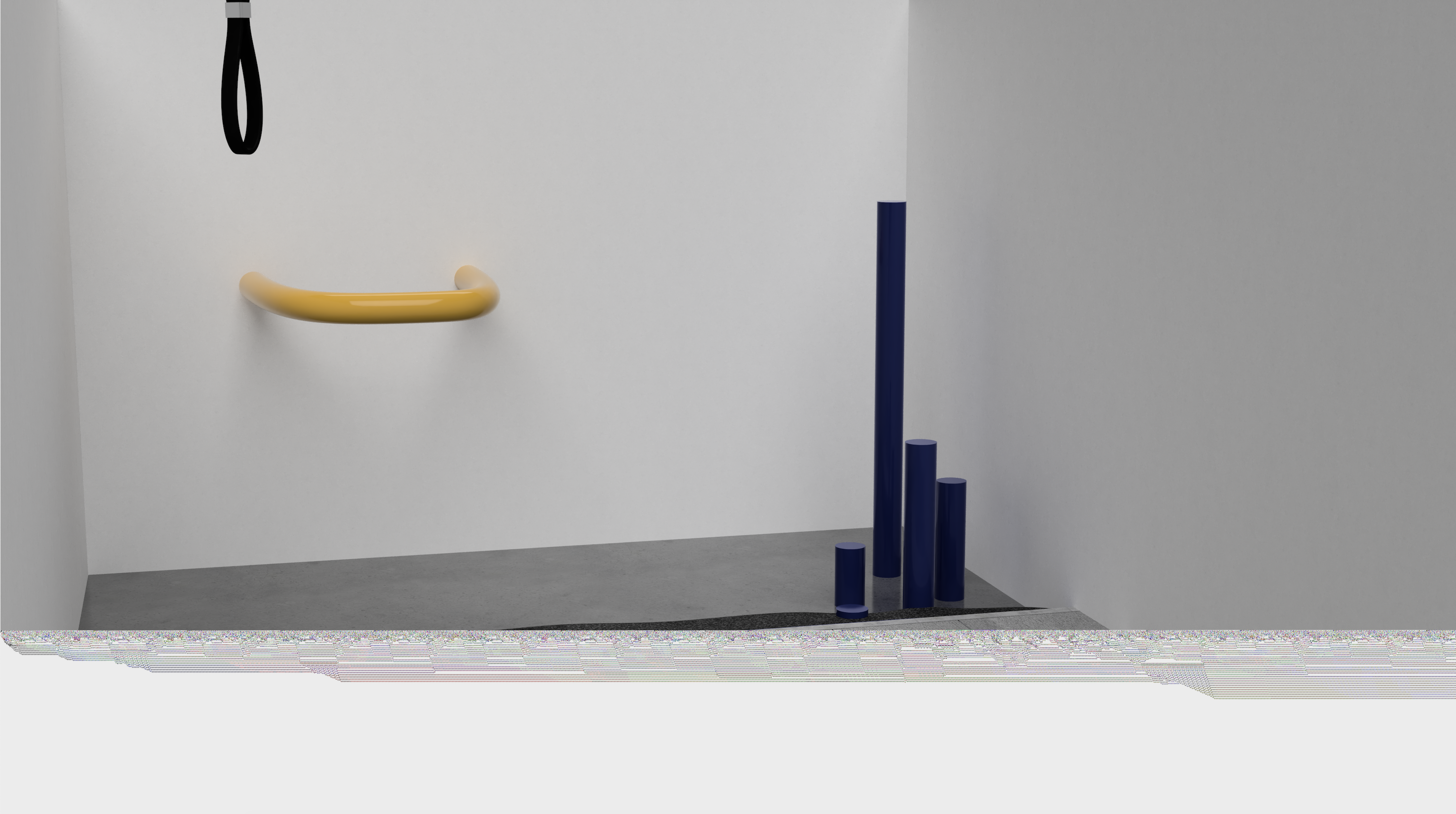 Callum Agnew, Dysfunctional Infrastructure (maquette 1), 2019, 3D rendering, courtesy of the artist.