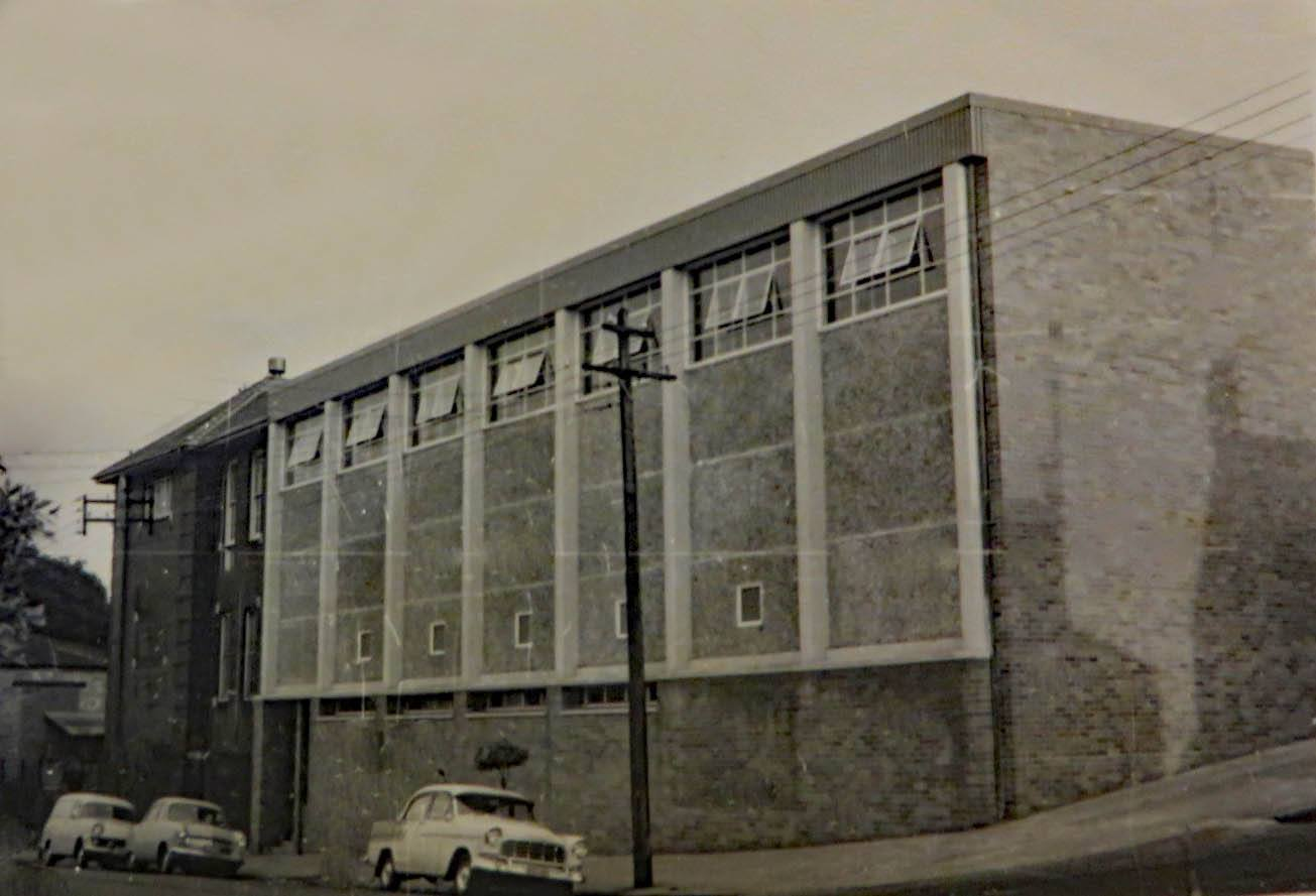 Alexander Mackie College Gymnasium, 1962. Image credit David Nelson collection.