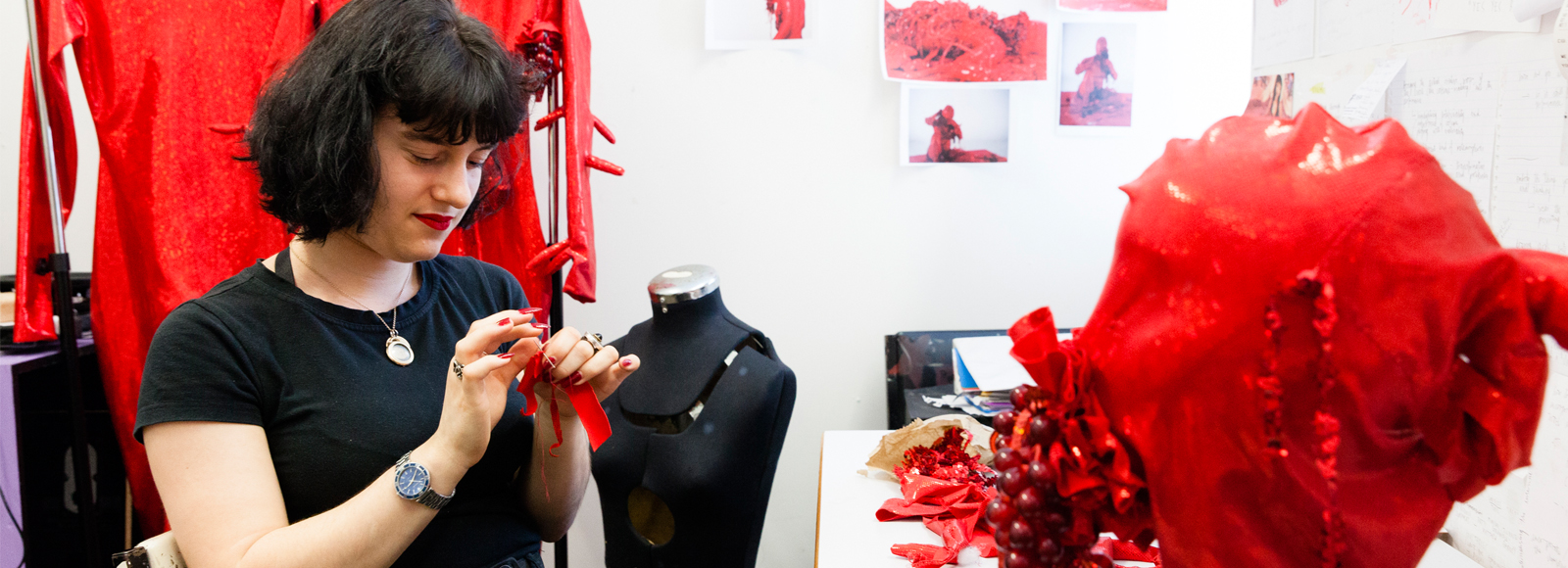 Dominique Cahill in her studio. Image by silversalt