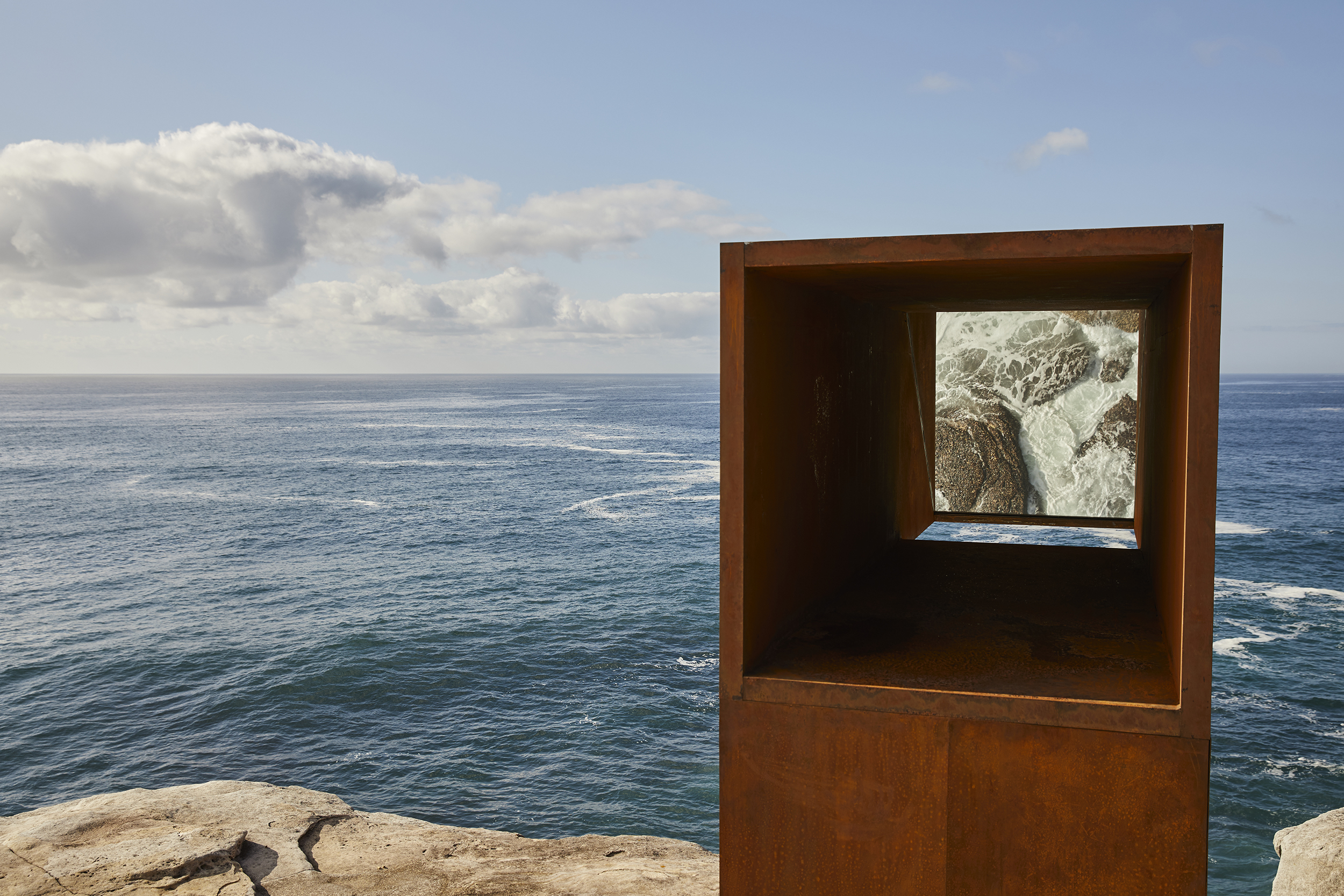 UNSW Built Environment graduate Joel Adler's work Viewfinder is featured in this year's Sculpture by the Sea.