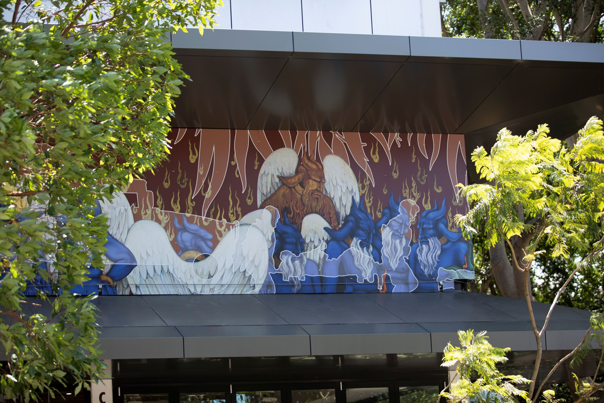 Khadim Ali's mural Every War is Defeat at UNSW Art & Design. Photo by Marty Jamieson
