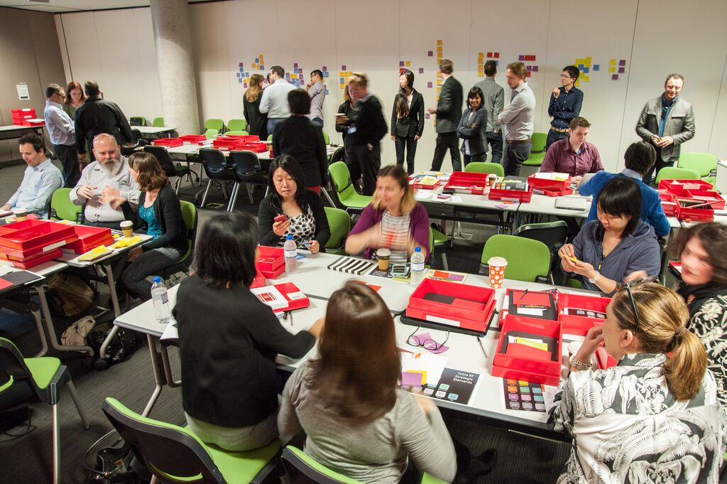 UNSW staff open their Kickboxes in Session One of UNSW's four session Kickbox Initiative. Image by Virginia Bentink.