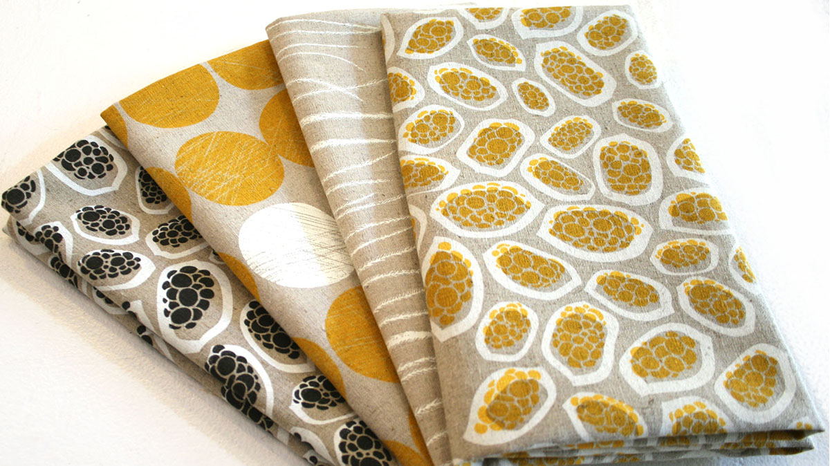 Lucy Simpson, fabric from the 'workingcloth' range, 2012