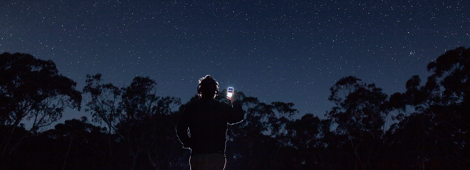 Michaela Gleave, A Galaxy of Suns, smartphone app. Photo: silversalt. Courtesy: the artist and Anna Pappas Gallery, Melbourne