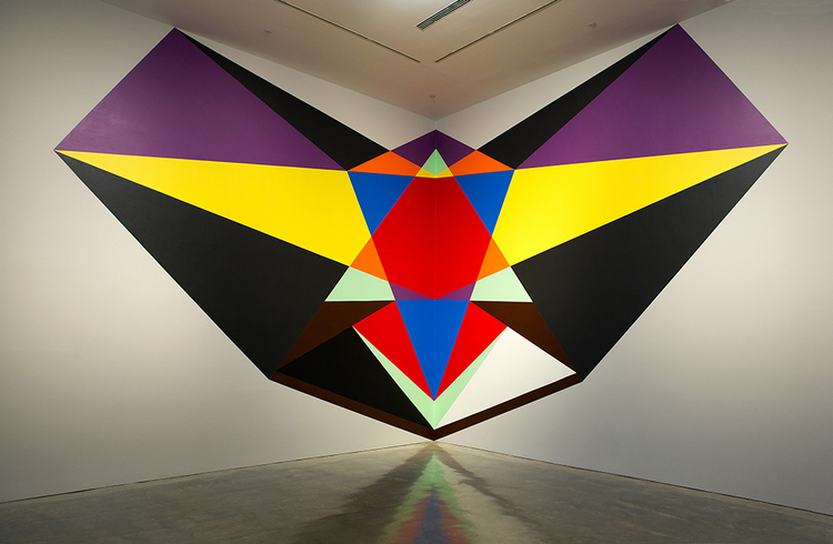 Spell for a Corner, 2015, acrylic on wall, Museum of Contemporary Art, donated through the Australian Government's Cultural Gifts Program by the artist