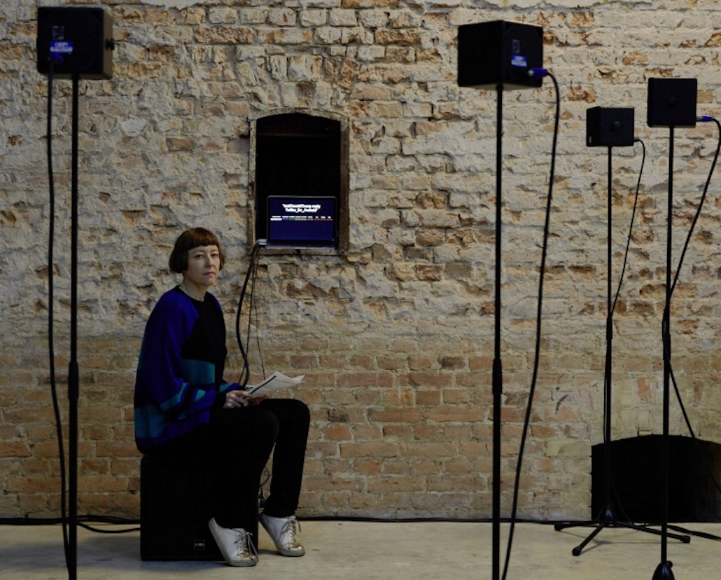 Ms Gufford curated the 2018 eavesdrop festival of contemporary electronic music and sound art in Berlin. Photo credit noshe
