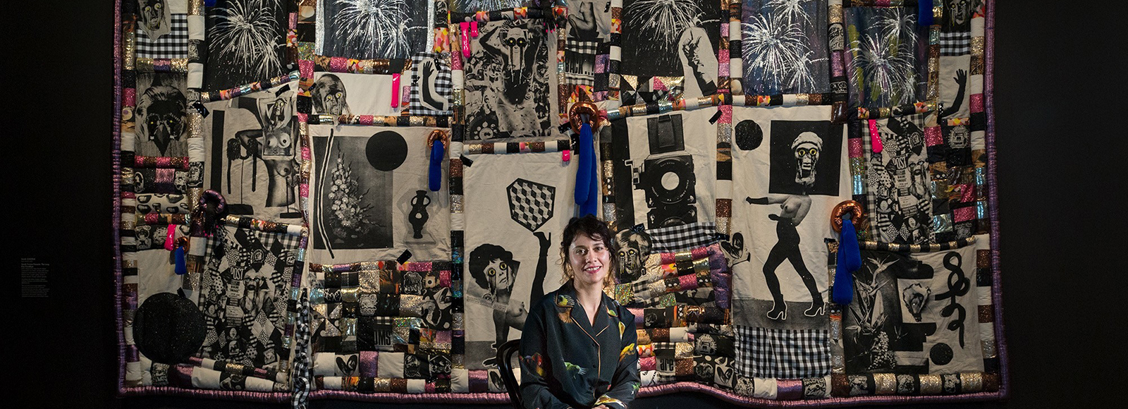 UNSW Art & Design graduate and Sydney-based emerging artist, Sarah Contos has won the inaugural $100,000 Ramsay Art Prize for her 21st century quilt