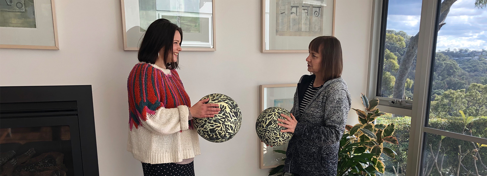 Sivaan Walker (left) will be mentored by UNSW Art & Design educator and artist Associate Professor Emma Robertson (right) for 12 months. Image supplied.