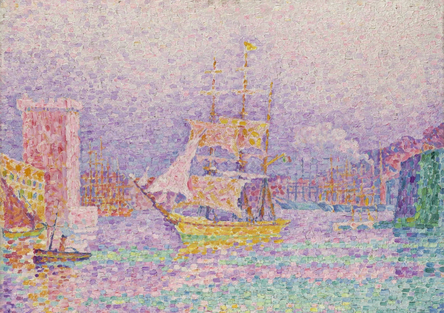 Paul Signac, 'Leaving the Port of Marseille' 1906/7 oil on canvas, 46 x 55.2 cm, The State Hermitage Museum, St Petersburg, Inv GE 6524. Photo: © The State Hermitage Museum 2018, Vladimir