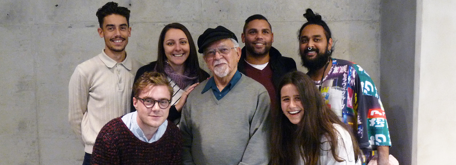 Vic Chapman with UNSW Art & Design students and alumni